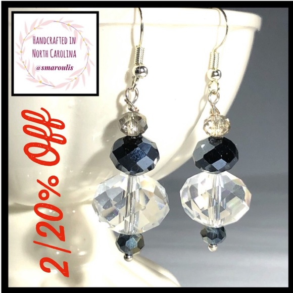 Frontrow.Style Jewelry - Sterling Silver Earrings Light Austrian Crystal